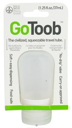 DROPPED: Humangear - GoToob Squeezable Travel Tube Clear - 1.25 oz. CLEARANCE PRICED