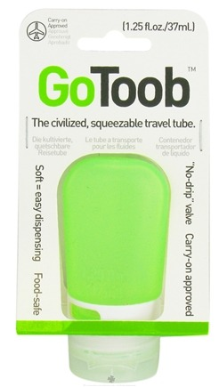 DROPPED: Humangear - GoToob Squeezable Travel Tube Lime Green - 1.25 oz. CLEARANCE PRICED