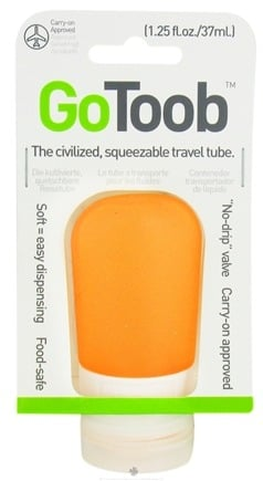 DROPPED: Humangear - GoToob Squeezable Travel Tube Orange - 1.25 oz. CLEARANCE PRICED