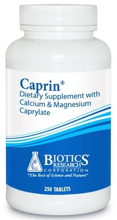 DROPPED: Biotics Research - Caprin with Calcium & Magnesium Caprylate - 250 Capsules CLEARANCE PRICED