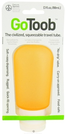 DROPPED: Humangear - GoToob Squeezable Travel Tube Orange - 3 oz. CLEARANCE PRICED