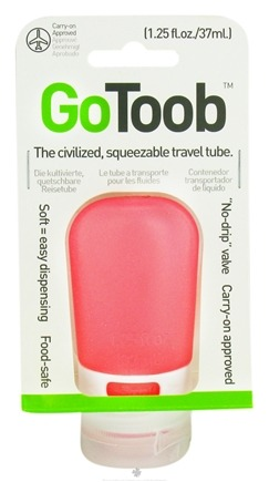 DROPPED: Humangear - GoToob Squeezable Travel Tube Hot Pink - 1.25 oz. CLEARANCE PRICED