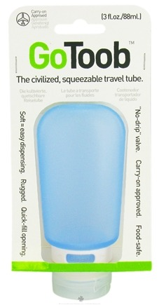 DROPPED: Humangear - GoToob Squeezable Travel Tube Sky Blue - 3 oz. CLEARANCE PRICED