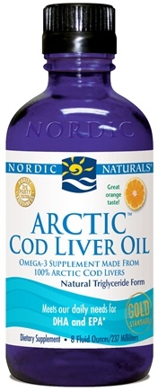DROPPED: Nordic Naturals - Arctic-D Cod Liver Oil Orange - 8 oz. CLEARANCE PRICED