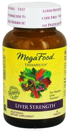 DROPPED: MegaFood - Therapeutix Liver Strength For Healthy Liver Function - 30 Vegetarian Tablets CLEARANCE PRICED