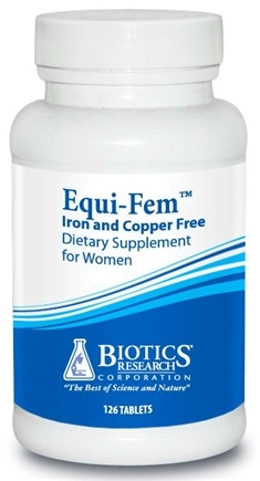 DROPPED: Biotics Research - Equi-Fem Iron and Copper Free for Women - 126 Tablet(s) CLEARANCE PRICED