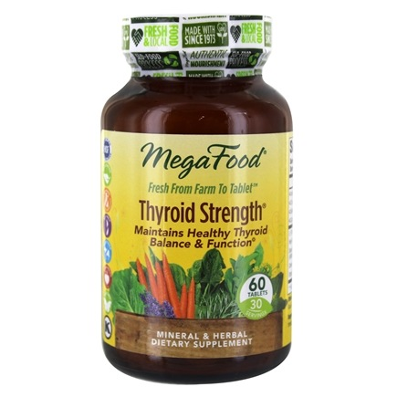 DROPPED: MegaFood - Therapeutix Thyroid Strength - 60 Vegetarian Tablets CLEARANCE PRICED