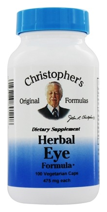 Dr. Christopher's Original Formulas - Herbal Eyebright Formula - 100 Vegetarian Capsules