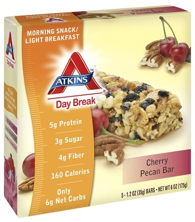 DROPPED: Atkins Nutritionals Inc. - Day Break Bar Cherry Pecan - 5 Bars