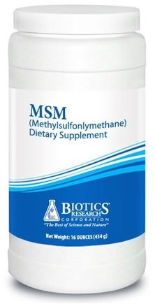 DROPPED: Biotics Research - MSM Methylsulfonylmethane Powder - 16 oz. CLEARANCE PRICED