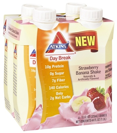 DROPPED: Atkins Nutritionals Inc. - Day Break RTD Shake - 11 oz. Strawberry Banana - 4 Pack