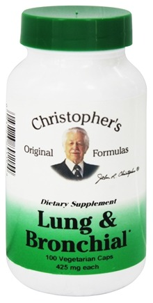 Dr. Christopher's Original Formulas - Lung & Bronchial Formula - 100 Vegetarian Capsules