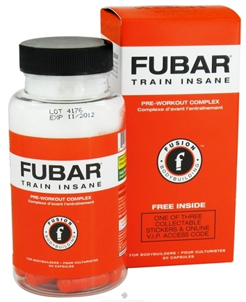 DROPPED: Fusion Bodybuilding - Fubar - 60 Capsules CLEARANCE PRICED