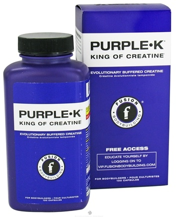 DROPPED: Fusion Bodybuilding - Purple K - 100 Capsules CLEARANCE PRICED