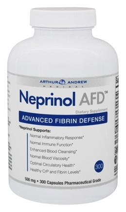 Arthur Andrew Medical - Neprinol Advanced Fibrin Defense 500 mg. - 300 Capsules