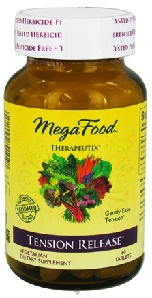 DROPPED: MegaFood - Therapeutix Tension Release - 60 Vegetarian Tablets CLEARANCE PRICED