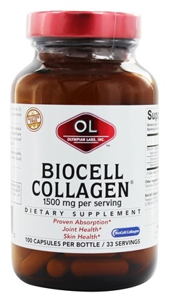 Olympian Labs - BioCell Collagen II 100% - 100 Capsules LUCKY PRICE