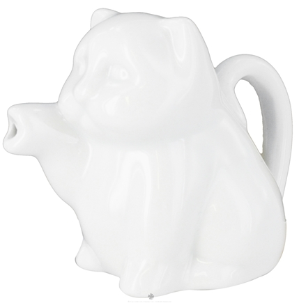 DROPPED: Harold Import - Porcelain Mini Cat Creamer White - 2 oz. CLEARANCE PRICED