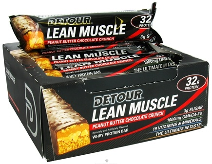 DROPPED: Forward Foods - Detour Lean Muscle Bar Peanut Butter Chocolate Crunch - 3.2 oz. CLEARANCE PRICED