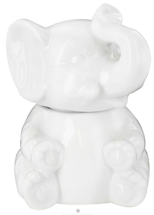 DROPPED: Harold Import - Porcelain Elephant Sugar Bowl White - CLEARANCE PRICED
