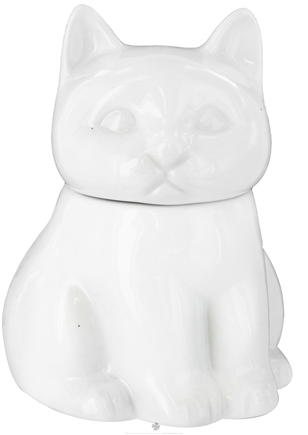 DROPPED: Harold Import - Porcelain Cat Sugar Bowl White - CLEARANCE PRICED