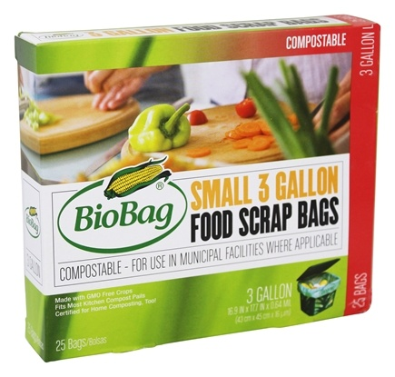 BioBag - Food Waste Compost Bio Bags 25 ct - 3 Gallons