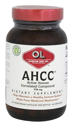 Olympian Labs - AHCC Active Hexose Correlated Compound 750 mg. - 60 Capsules