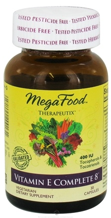 DROPPED: MegaFood - Therapeutix Vitamin E Complete 8 400 IU - 30 Vegetarian Capsules CLEARANCE PRICED