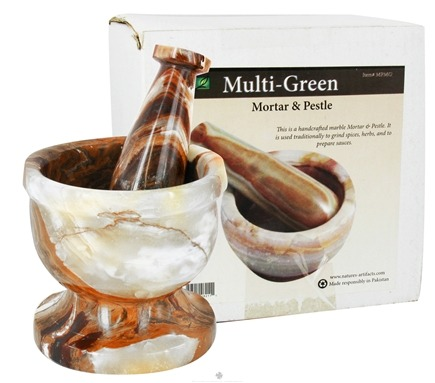 DROPPED: Nature's Artifacts - Mortar & Pestle Multi-Green
