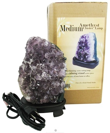 DROPPED: Nature's Artifacts - Amethyst Cluster Lamp Medium