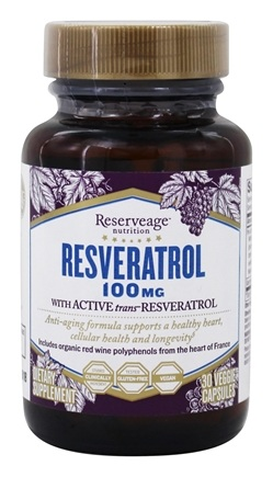 DROPPED: ReserveAge Organics - Resveratrol 100 mg. - 30 Vegetarian Capsules CLEARANCE PRICED