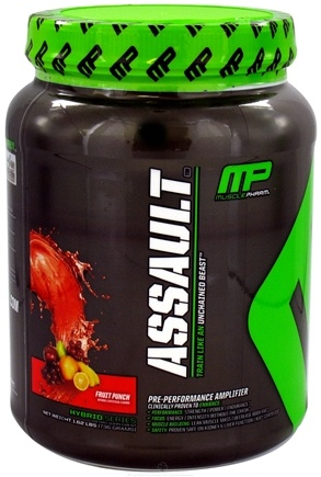 DROPPED: Muscle Pharm - Assault Pre-Performance Amplifier Fruit Punch - 1.62 lbs.
