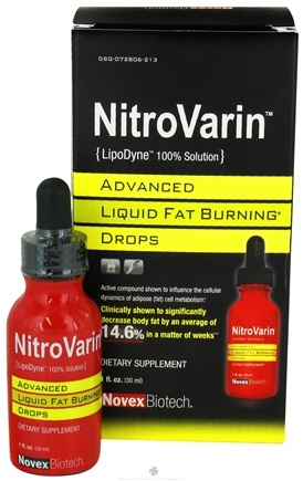 DROPPED: Novex Biotech - NitroVarin Advanced Liquid Fat Burning Drops - 1 oz.