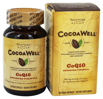 DROPPED: CocoaWell - Advanced CoQ10 Heart 200 mg. - 60 Vegetarian Capsules