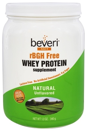 DROPPED: Beveri Nutrition - Whey Protein Supplement rBGH Free Natural Unflavored - 12 oz.