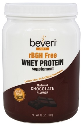 Beveri Nutrition - Whey Protein Supplement rBGH Free Natural Chocolate - 12 oz.