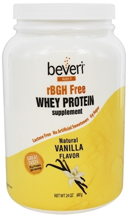 DROPPED: Beveri Nutrition - Whey Protein Supplement rBGH Free Natural Vanilla - 24 oz.