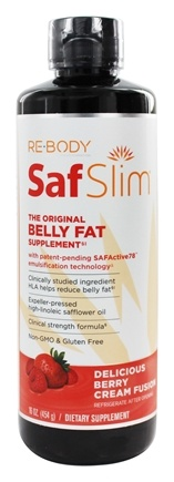 ReBody - SafSlim Breakthrough Belly Fat Solution Delicious Berry Cream Fusion - 16 oz.
