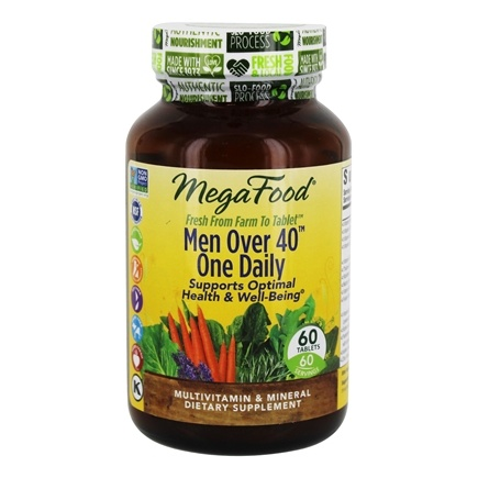 MegaFood - DailyFoods Men Over 40 One Daily Iron Free - 60 Vegetarian Tablets