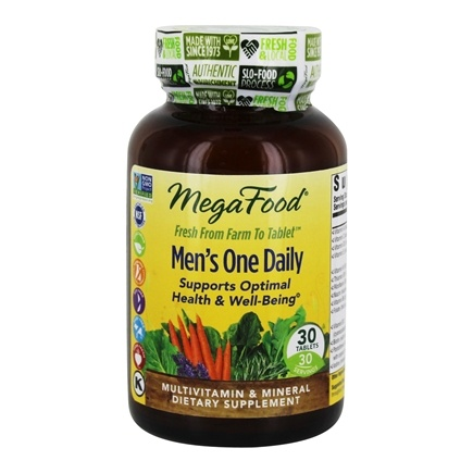 DROPPED: MegaFood - DailyFoods Men's One Daily Iron Free - 30 Vegetarian Tablets CLEARANCE PRICED