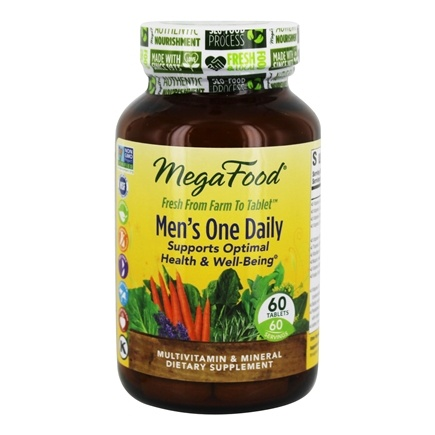 MegaFood - DailyFoods Men's One Daily Iron Free - 60 Vegetarian Tablets