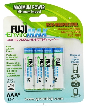 DROPPED: Fuji EnviroMAX - Digital Alkaline Batteries AAA - 4 Pack CLEARANCE PRICED