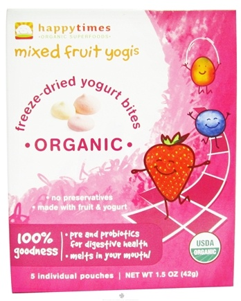 DROPPED: HappyFamily - HappyYogis Organic Superfoods Yogurt and Fruit Snacks Mixed Fruit - 6 Pack(s) (formerly HappyMelts Organic Yogurt Snacks)