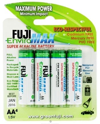 DROPPED: Fuji EnviroMAX - Super Alkaline Batteries AA - 4 Pack CLEARANCE PRICED