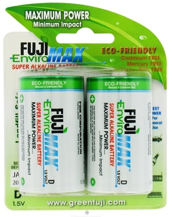 DROPPED: Fuji EnviroMAX - Super Alkaline Batteries D - 2 Pack CLEARANCE PRICED