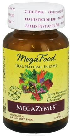 DROPPED: MegaFood - DailyFoods MegaZymes Natural Digestive Aid - 30 Vegetarian Capsules CLEARANCE PRICED