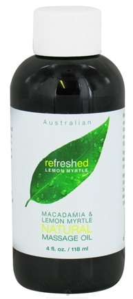 DROPPED: Tea Tree Therapy - Australian Massage Oil Refreshed Macadamia & Lemon Myrtle - 4 oz. CLEARANCE PRICED