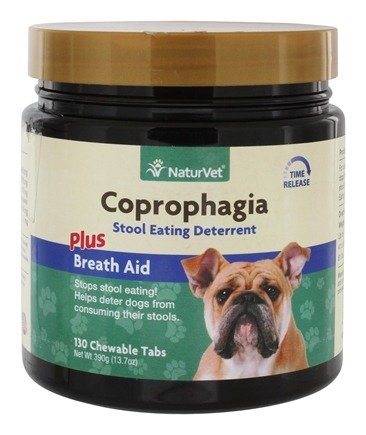 DROPPED: NaturVet - Coprophagia Deterrent For Dogs - 130 Chewable Tablets