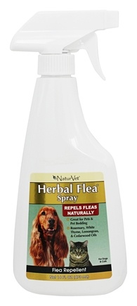NaturVet - Herbal Flea Spray For Dogs & Cats - 16 oz.