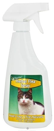 DROPPED: NaturVet - Herbal Flea Spray For Cats - 16 oz. CLEARANCE PRICED